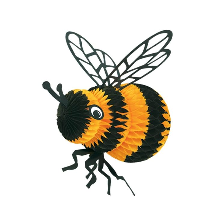 Club Pack Of 12 Black And Yellow Honeycomb Bumble Bee Party Centerpiece Decorations 8