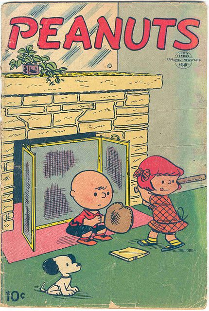 PEANUTS (comic book) #1 (ca. 1953); cover by Charles M. Schulz; published by Dell Comics - the comic book publishing arm of Dell Publishing.