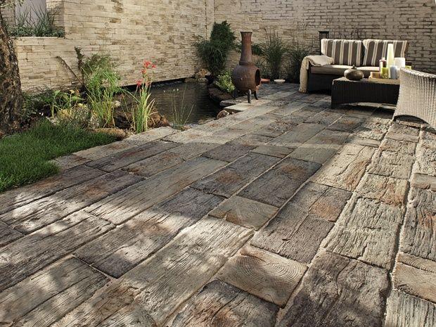 garten fliesen stein die 25 besten ideen zu terrasse auf pinterest garten terrasse. Black Bedroom Furniture Sets. Home Design Ideas