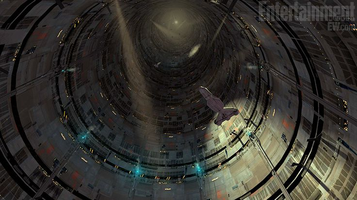 Concept art for the new 'Star Wars 1313' game showing a tunnel down into the lower levels of Coruscant. #StarWars