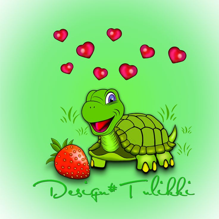 Lovely Miss Tortoise with strawberry