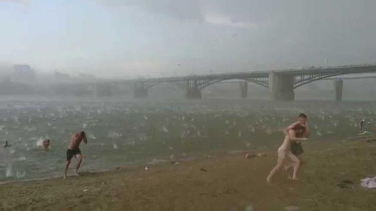 Внезапный ураган в Новосибирске 12.07.2014