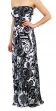 Printed Boobtube Dress Front 34