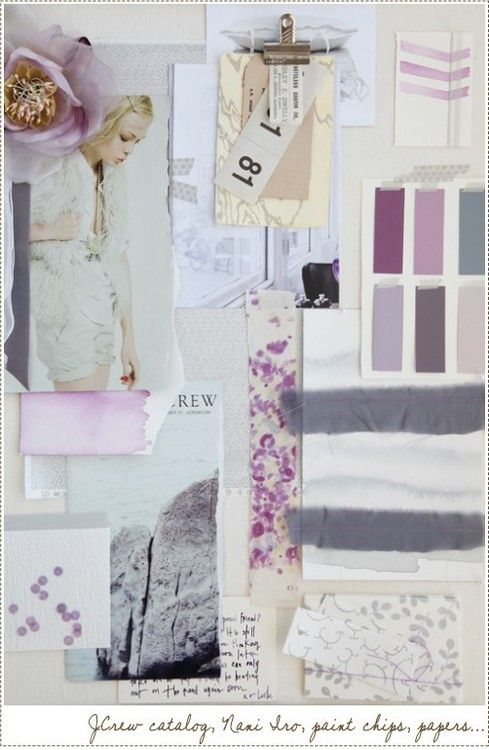 mood board purple cream gray color combinations