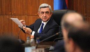 Ermənistan prezidenti Serj Sarkisyan hakim Respublika partiyasının 16-cı