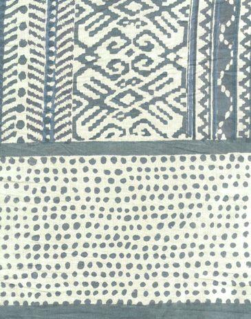 Anokhi USA: Eucalyptus Ikat cotton scarf