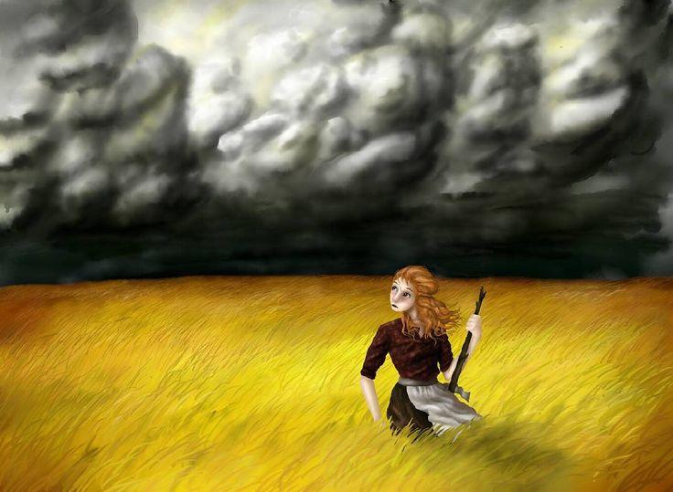 """9 Likes, 1 Comments - Bianca Van Harmelen (@bianca_van_harmelen) on Instagram: """"#illustration #doodle #cornfield #storm"""""""