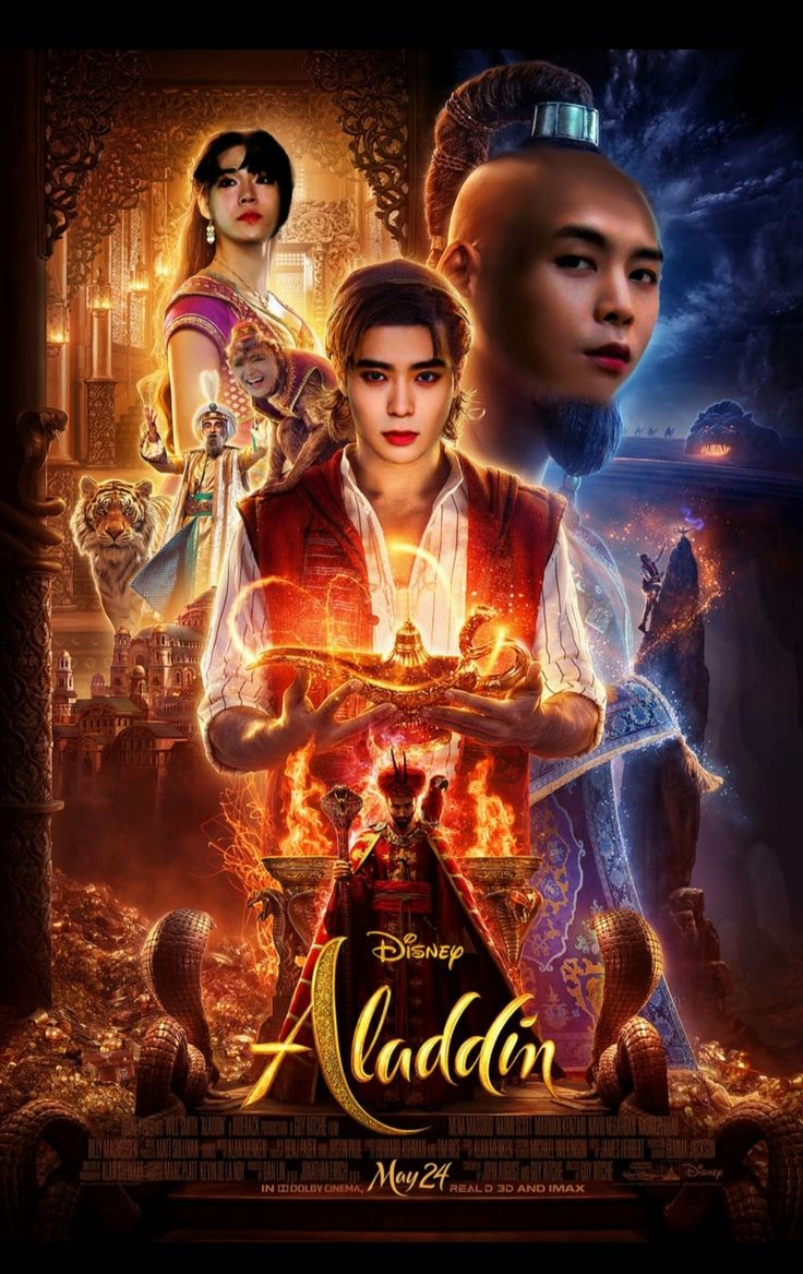 Poster Aladdin Nct Ver Film Bagus Disney Hiburan