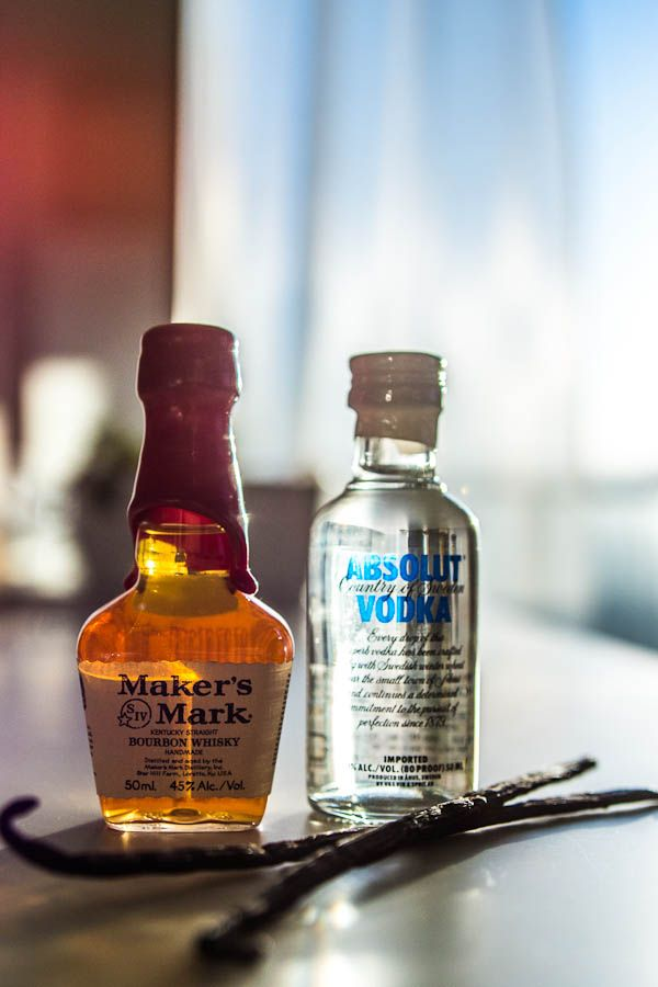 Mini liquor bottles are perfect for making homemade vanilla extract...how to from [no recipes]