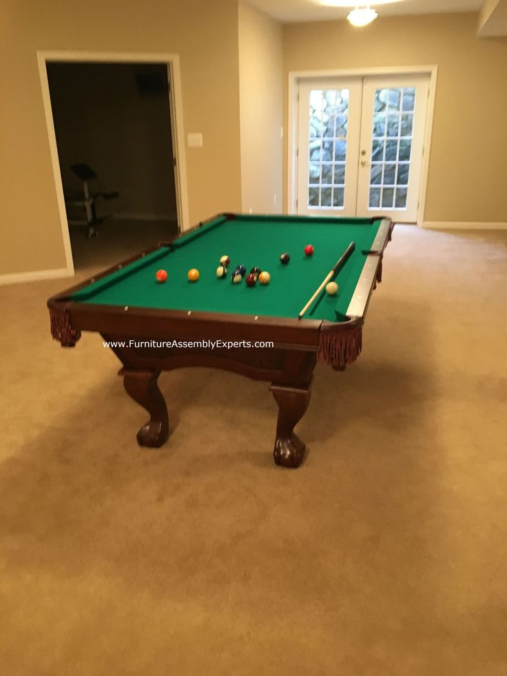 Brunswick billiards pool table assembled for a customer in waldorf Maryland by Furniture Assembly Experts