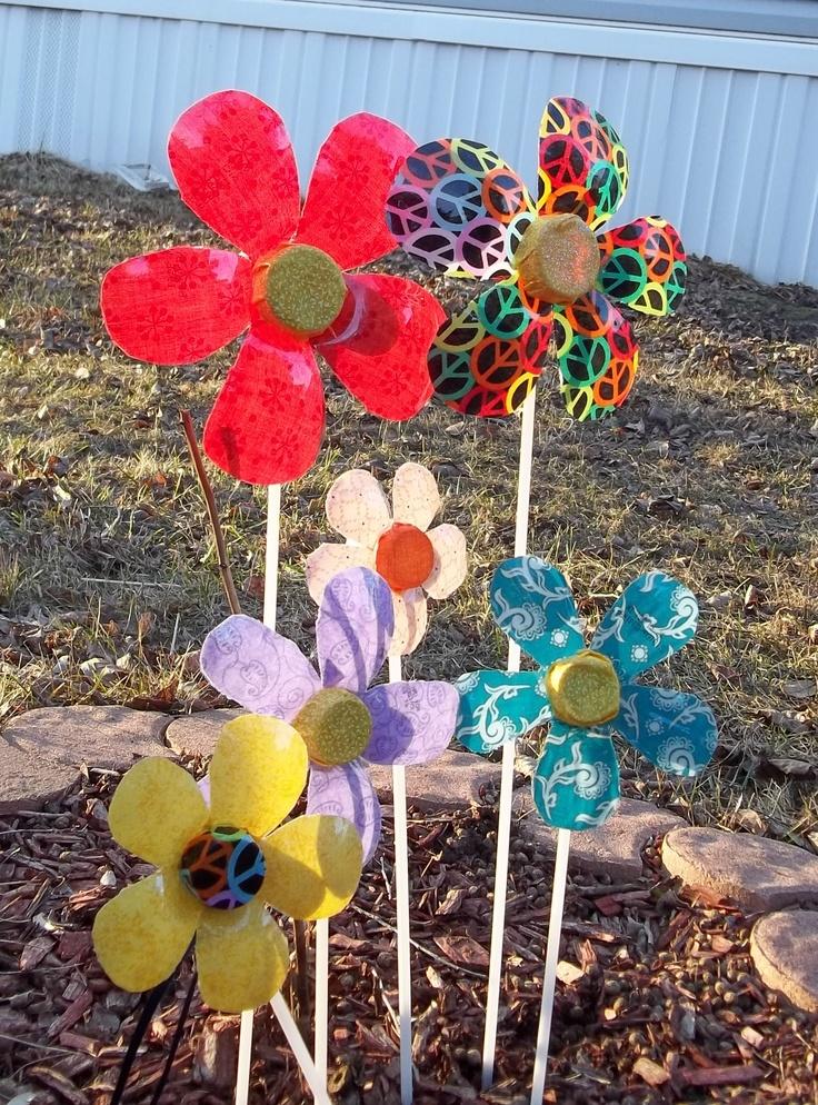 Crazy Dazy pop bottle flowers