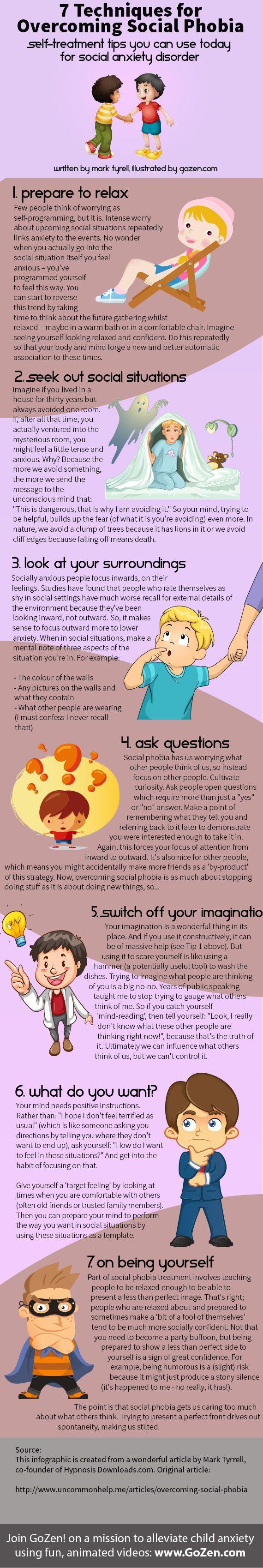 7 Techniques for Overcoming Social Phobia | GoZen!