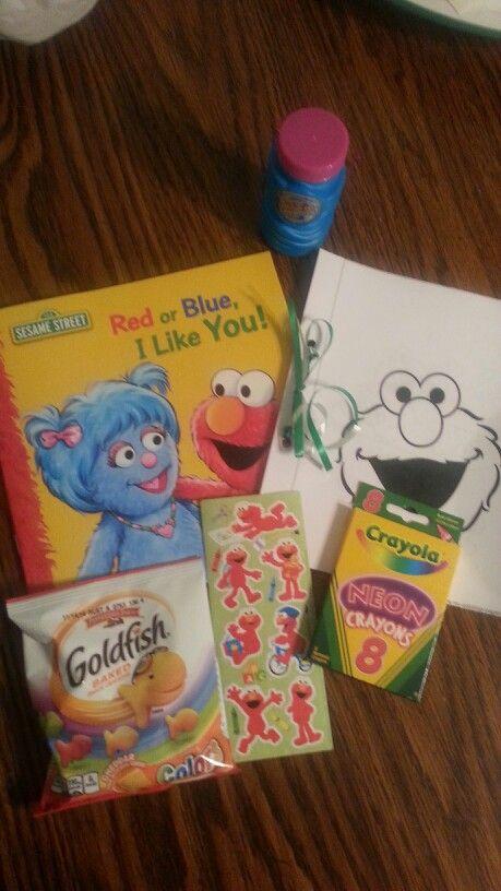 Elmo goodie bag items!
