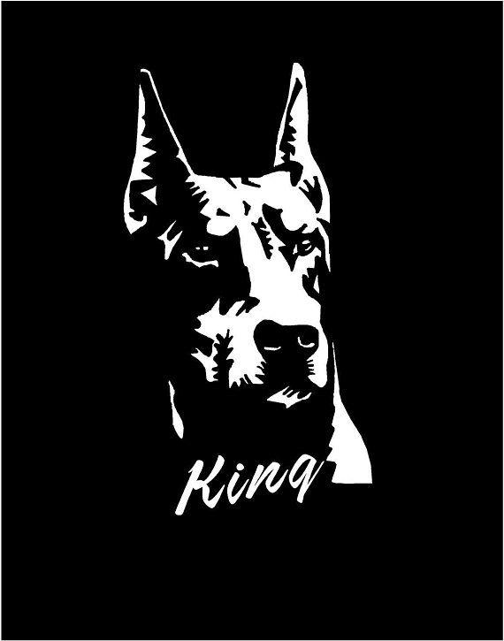 Doberman Pinscher Breed Dog Car Bumper Sticker Decal /'/'SIZES/'/'