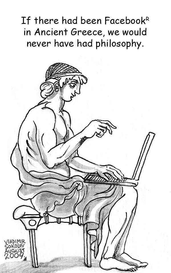 Ancient Greek Facebook, #cartoon, philosophy, #facebook, funny