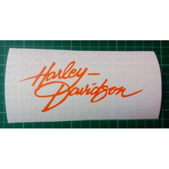 Unique design harley Davidson sticker created in beautiful handwriting style…
