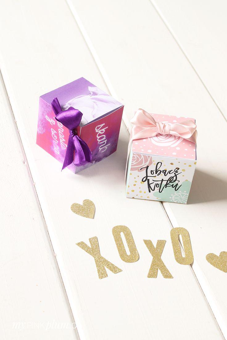 My Pink Plum!: DIY — Pudełka na prezenty walentynkowe 2 wzory do druku