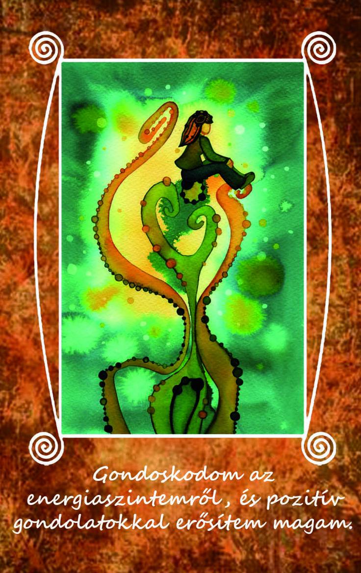 Gondoskodom az energiaszintemről, és pozitív gondolatokkal erősítem magam.  LélekErő Kártyacsomag: 62 db megerősítő kártyalap, 4 db játékkal. http://www.notudat.hu/lelekero-kartyak