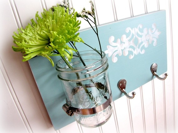 Hook board with vase.  The clamp is extra simply seen on this photograph.  I actually like these! #partitions #fa…
