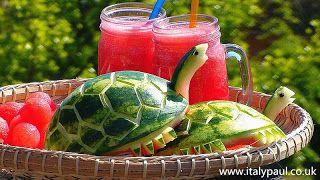 ItalyPaul - Art In Fruit & Vegetable Carving Lessons: Art In Watermelon Turtles - Fruit Carving Garnish ...