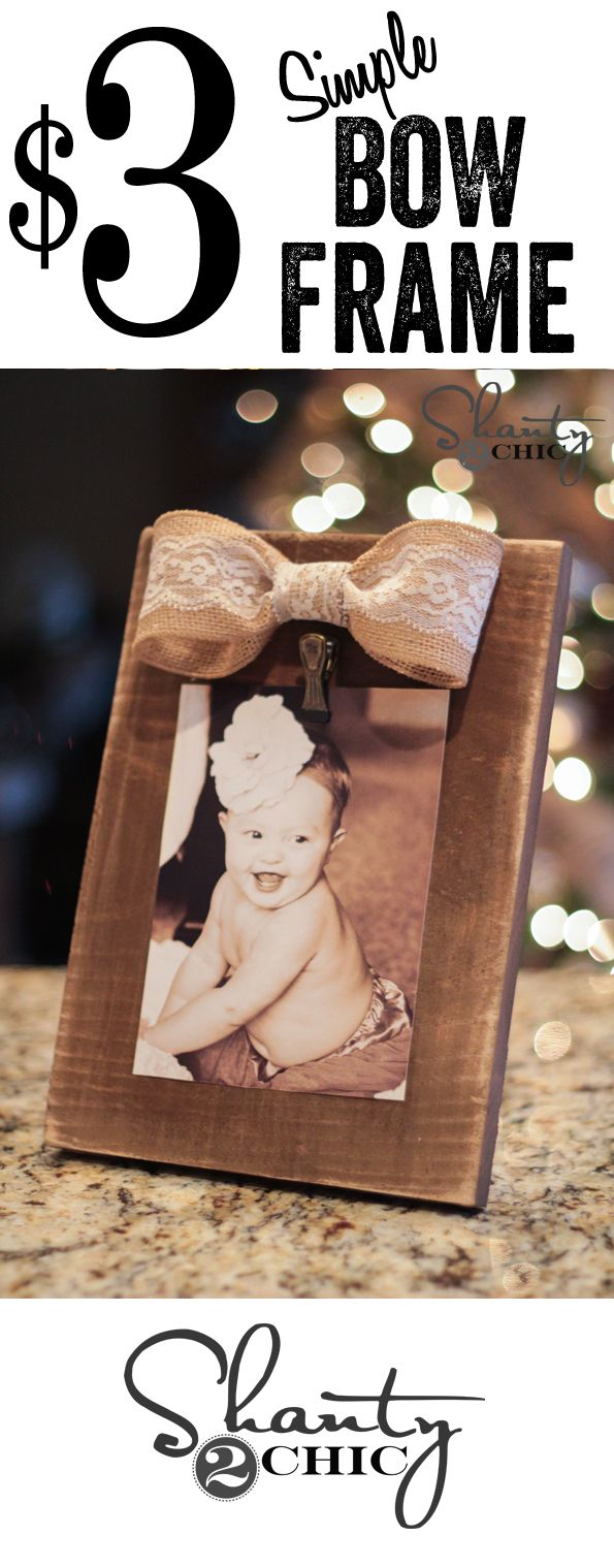 DIY bow frame tutorial... So cheap and easy! Great Christmas present!!