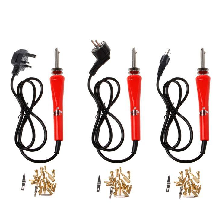 23 Pcs 30W Pyrography Tool Wood Burning Electronic Iron Pen+Assorted Woodburning Tips Kit L15