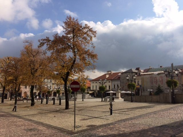 Autumn in the Old Town Square in Bielsko-Biala, Poland