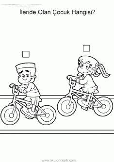 Başlangıç Bitiş Kavramı, start finish worksheets