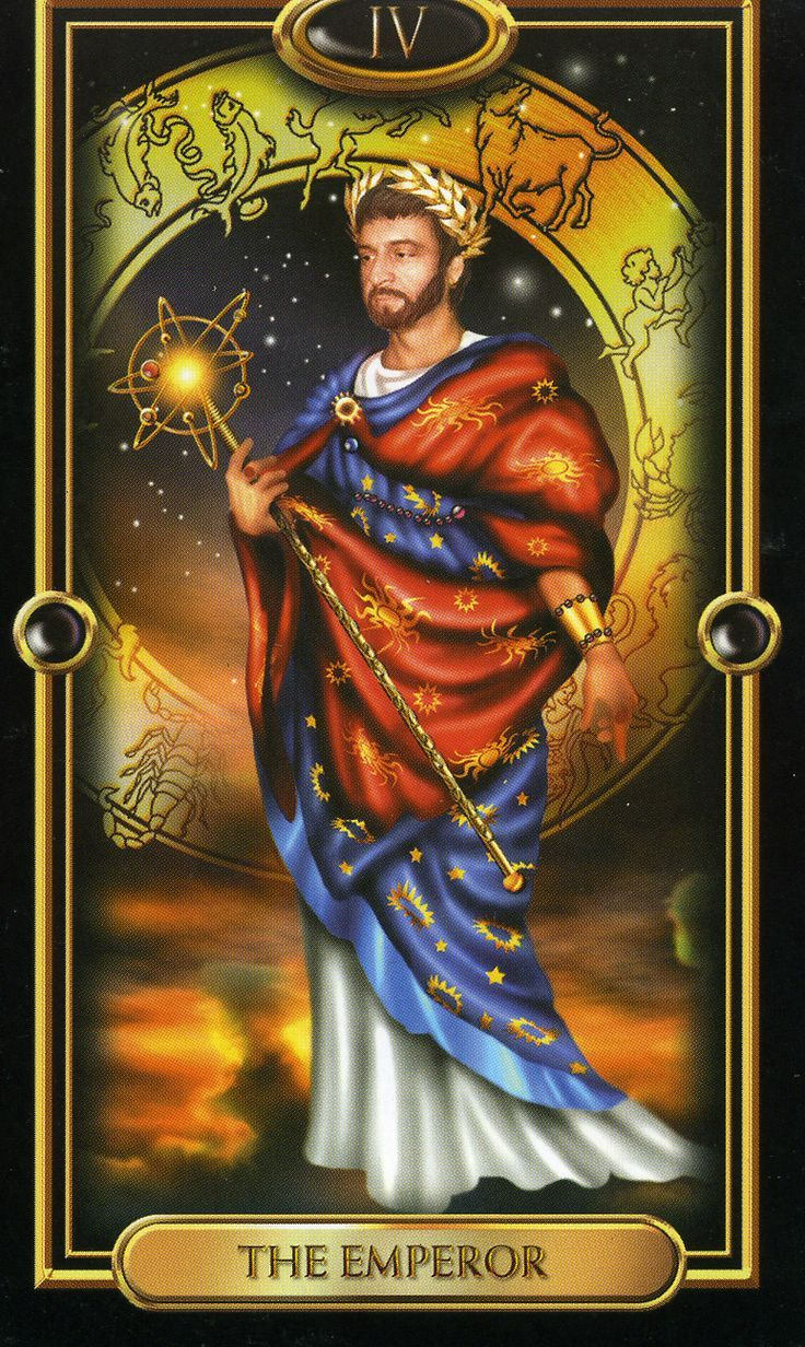 The Gilded Tarot Images On: Gilded Tarot Royale - The Emperor