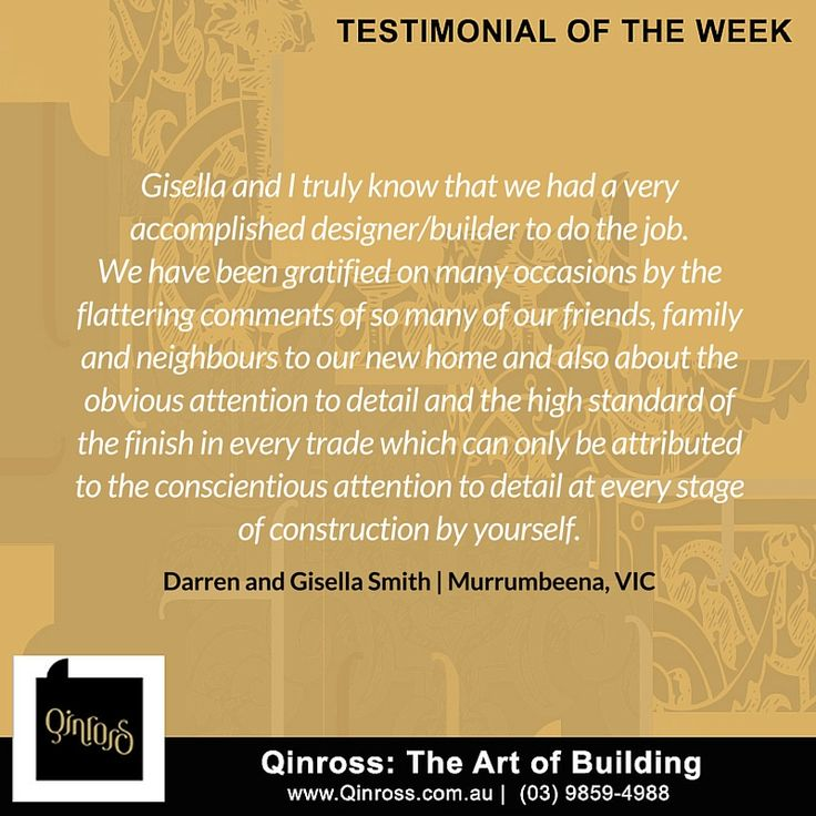 Looking for proof of our hard work, expertise and professionalism? Check out this testimonial fom our loyal clients, Darren and Gisella!