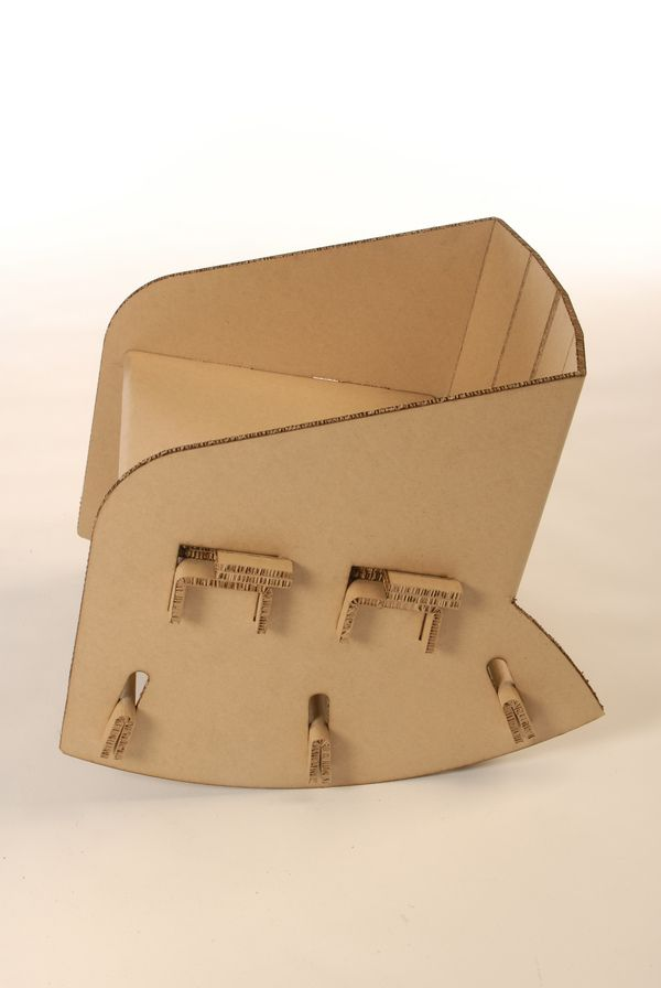 Cardboard Rocking Chair on Furniture Served