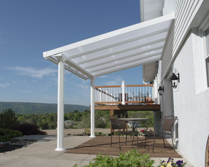 The Gala Patio Cover was designed with your comfort in mind; it is robust, sturdy and durable, comprised of corrosion resistant white powder coated aluminium structure, and combined with virtually unbreakable, 100% UV protected white 16 mm Twin-wall Polycarbonate roof panels.