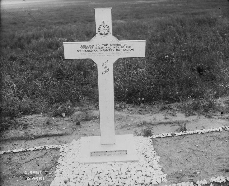 5th Infantry Battalion Memorial, Vimy Ridge. May 1918. (item 1)