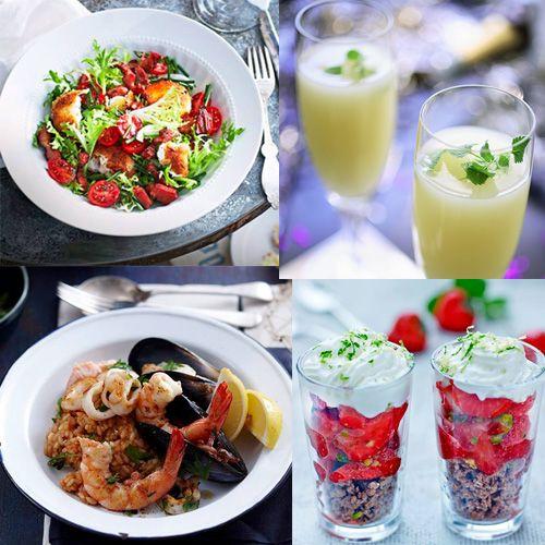 On vous a concocté des recettes ensoleillées !  Cocktail Mauresque, salade de chèvre chaud pané, crumble de fraise et chocolat   Bon week-end !