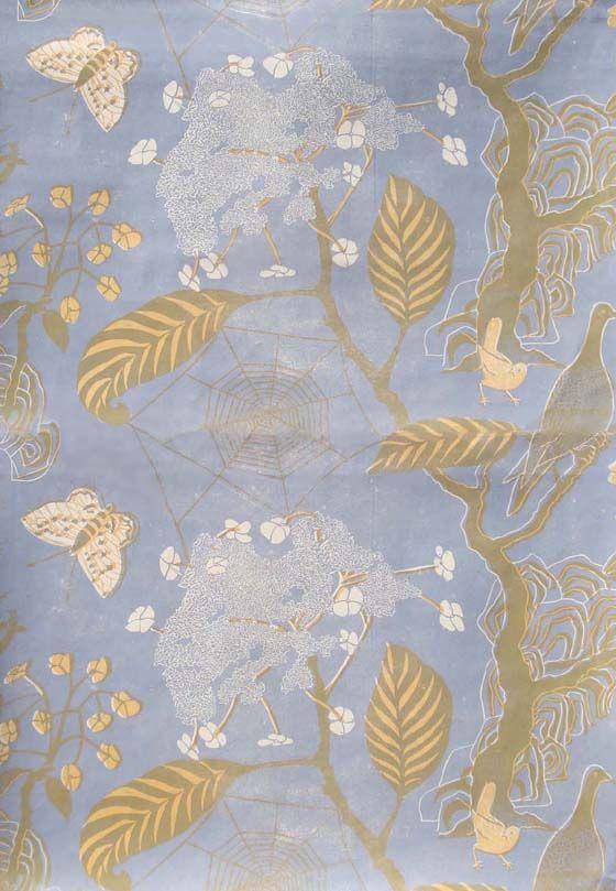 Cobweb wallpaper by Brit Marthe Armitage