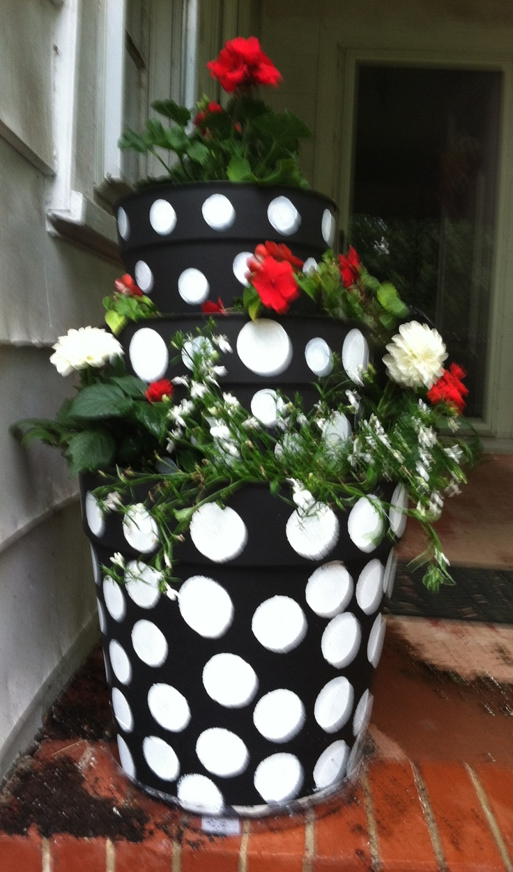13 Best Stacked Flower Pots Images On Pinterest Stacked