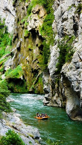 Rafting in Pallars Valley, Pyrenees, Spain