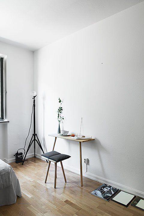Sovrum med skrivbord