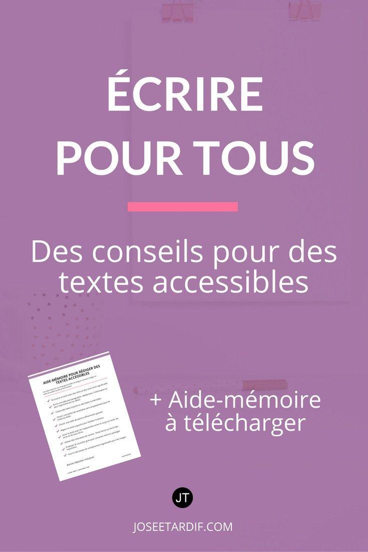 Conseils textes accessibles | Dyslexie | Dyslexiques | Textes lisibles