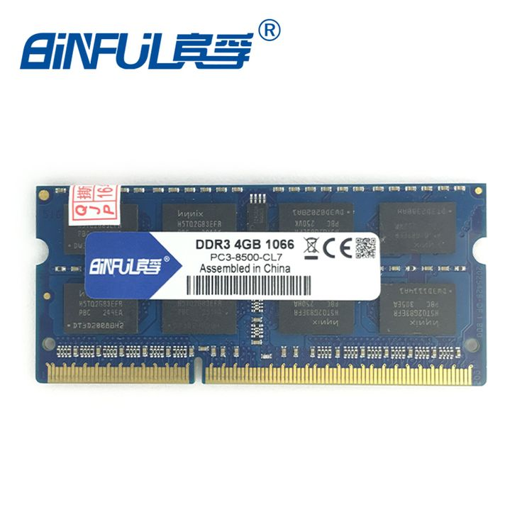 Binful Original Nueva Marca otras marcas ddr 1 GB 2 GB 4 GB PC3-8500 1066 mhz MEMORIA ram 204PIN Portátil SDRAM Portátil