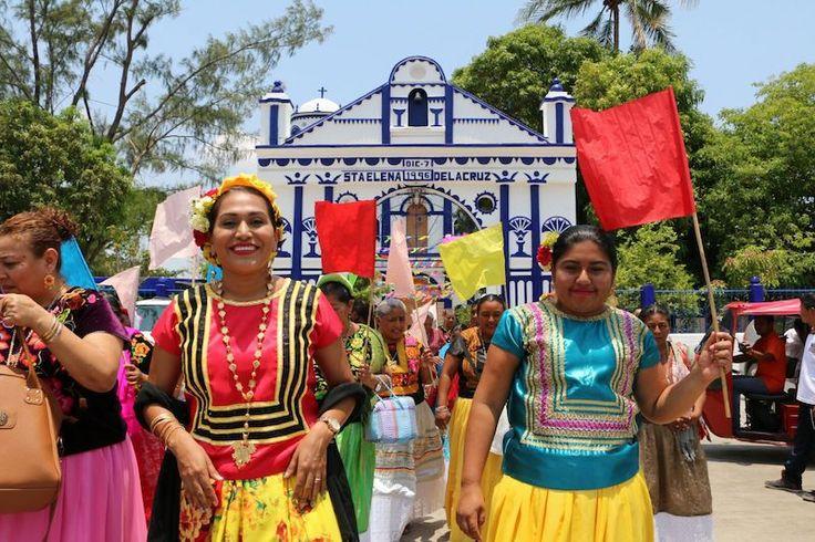 Municipio rehabilita la pintura de fachada e interiores de la iglesia de Santa Elena de la Cruz
