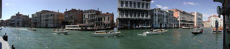 Panorama do Grande Canal de Veneza.