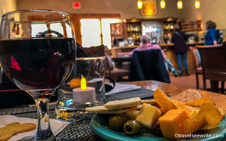 Complimentary Cheese and wine hour at Inn on The Alamada Hotel, Santa Fe, New Mexico