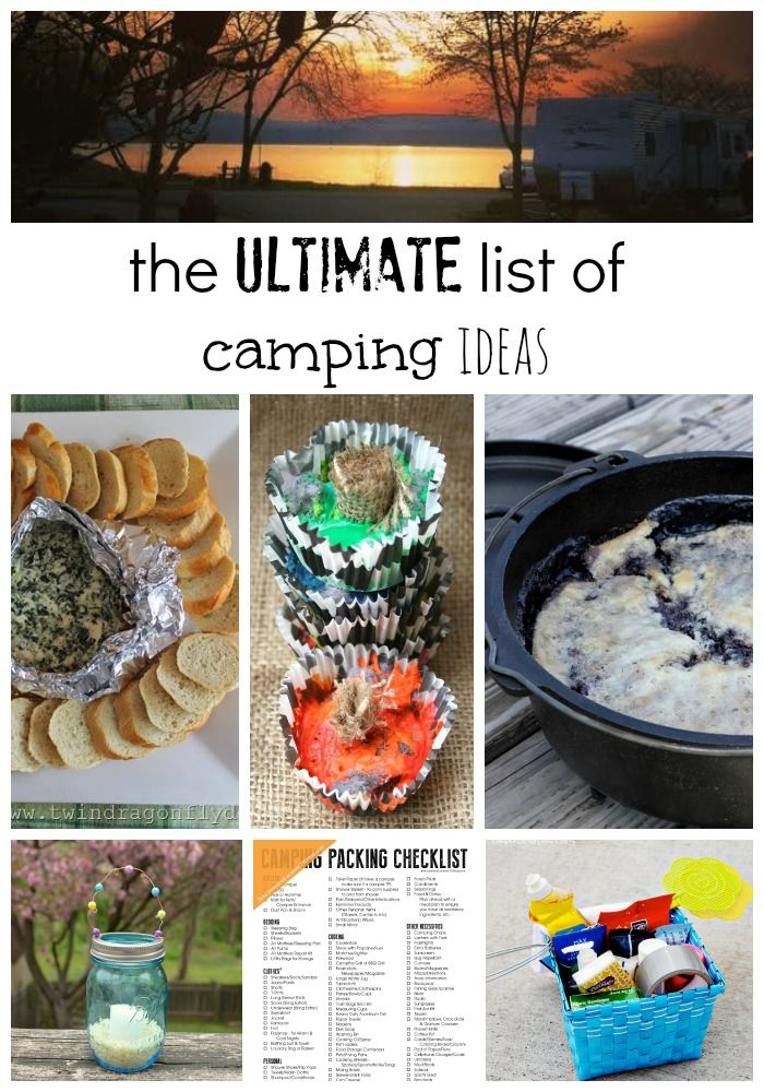 The ultimate list of camping ideas! I need to check these out before we head out camping. #camping
