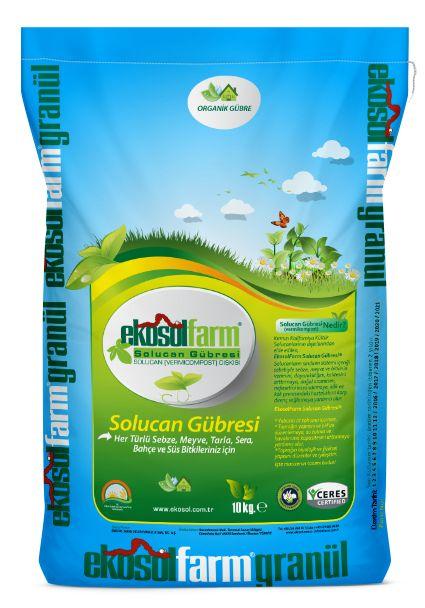 Her türlü Tarla, Sera ve Bahçe Bitkileriniz için, EkosolFarm Granül Solucan Gübresi