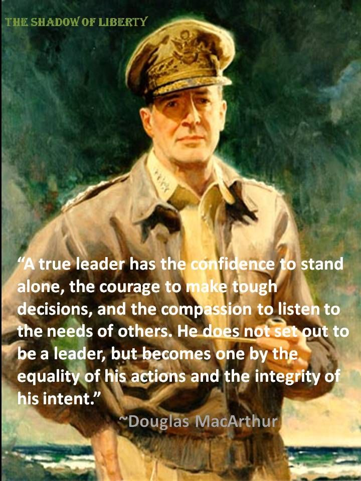 Image result for douglas macarthur on Leadership