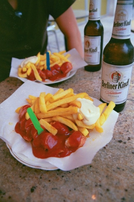 currywurst + berliner kindl, but only when in Berlin!