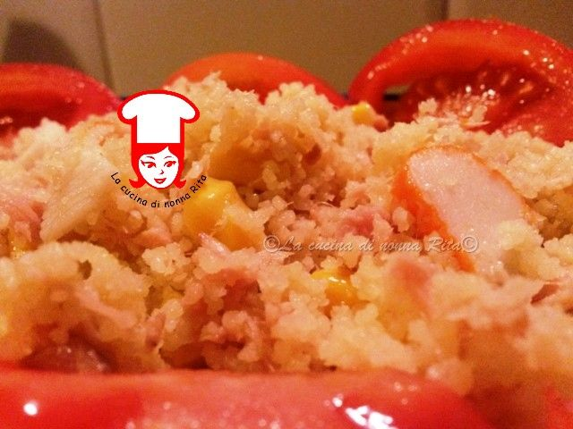 Cous cous tonno e surimi | La cucina di nonna Rita