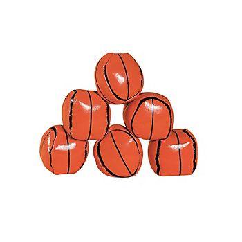 Basketball hackeysacks... a dozen for $8.50.  (Table decor.)