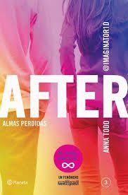 """""""After 3. Almas perdidas"""" de Anna Todd. Ficha elaborada por Rebeca García."""